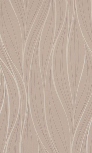Beige Tousled Abstract Modern Wallpaper R2930
