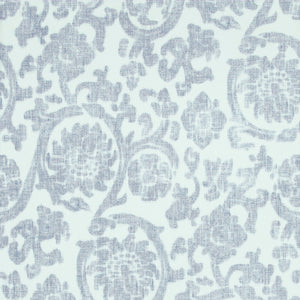 Traditional Orbital Damask White And Blue Wallpaper R4080