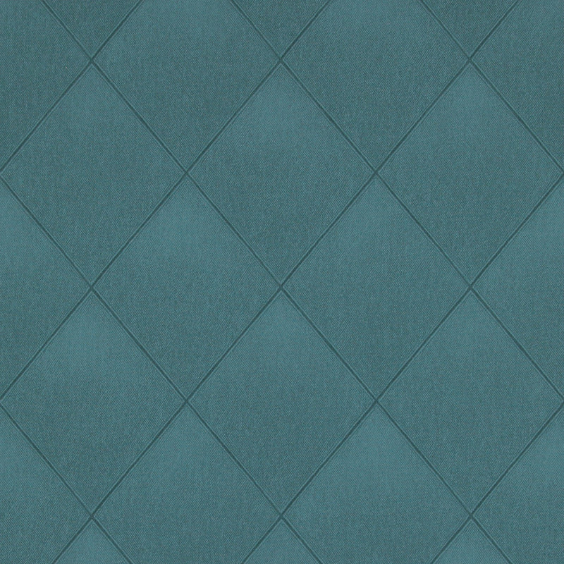Modern Padded Textile Teal Wallpaper R4091