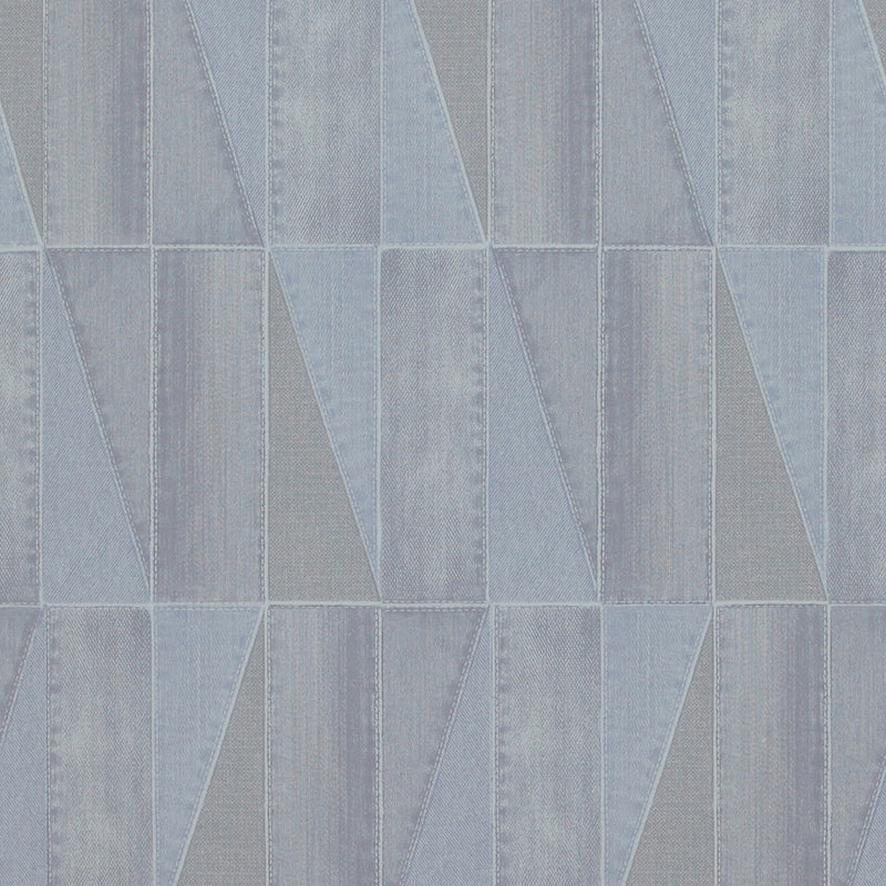 Urban Denim Patch Blue And Grey Wallpaper R4092