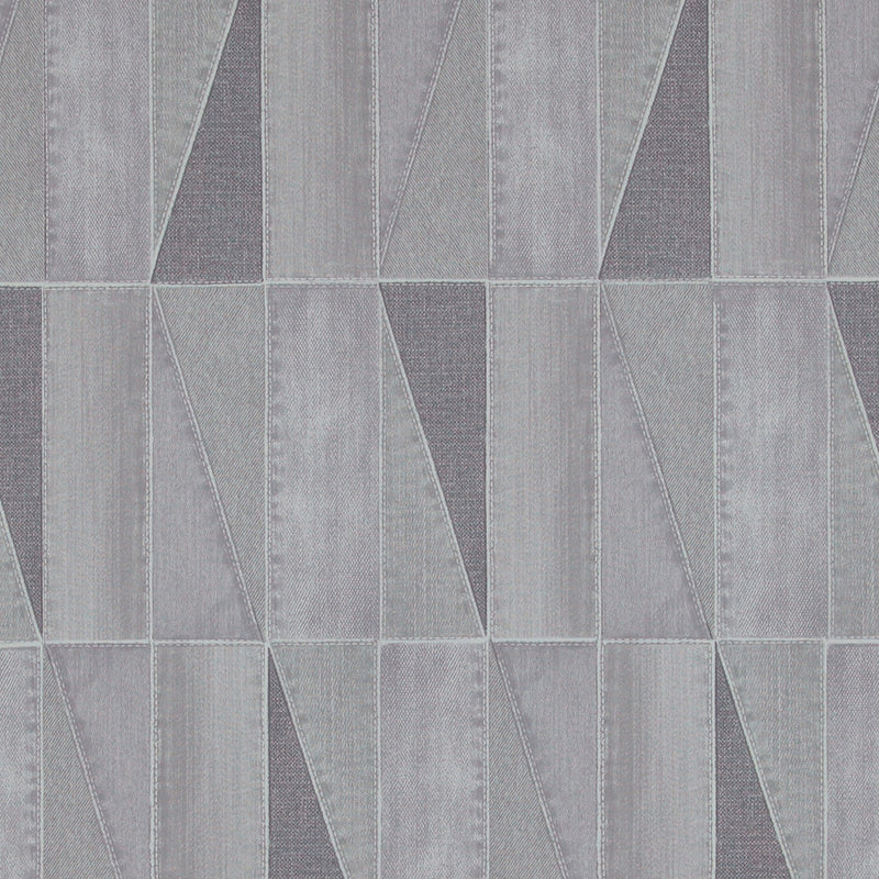 Urban Denim Patch Grey Wallpaper R4094