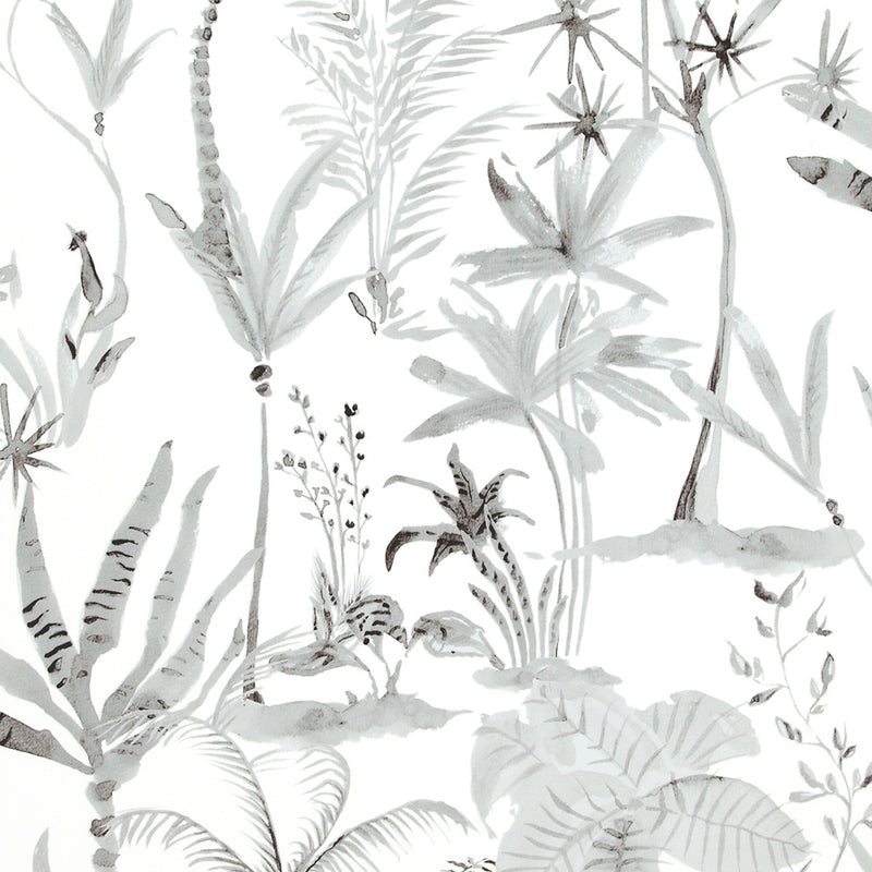 Natural Desert Tropics White And Grey Wallpaper R4197
