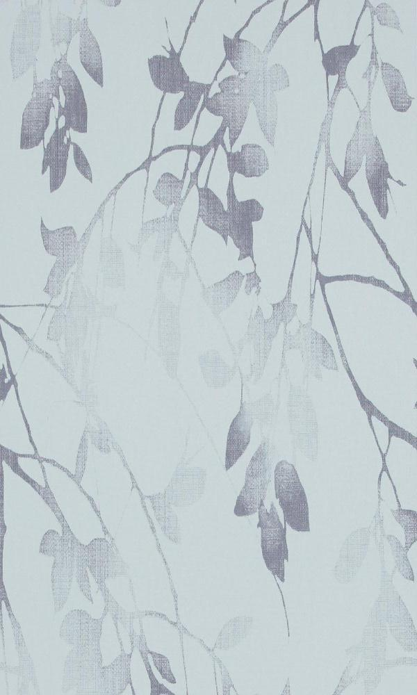 Classic Luxury Autumn Birch Baby Blue And Navy Wallpaper R4068