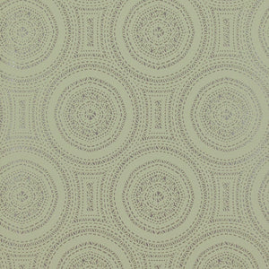 Geometric Tribal Rings Green Wallpaper R4122