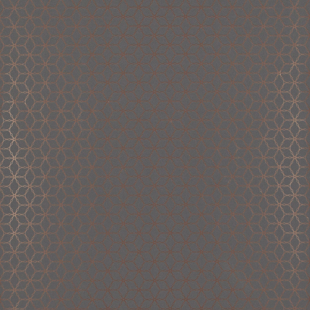 Geometric Contemporary Ring Link Grey and Gold Wallpaper R4107