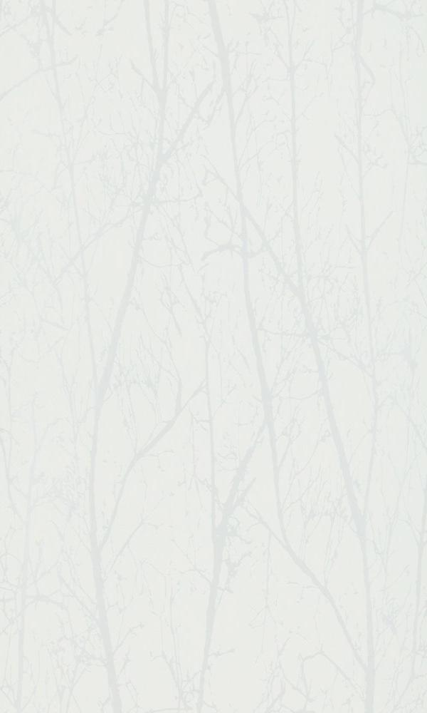 Contemporary Winter Trees Cream And Pearl Wallpaper R4097