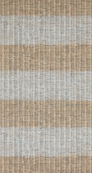 Rustic Stripe Smoked Truffle Wicker Wallpaper R4297