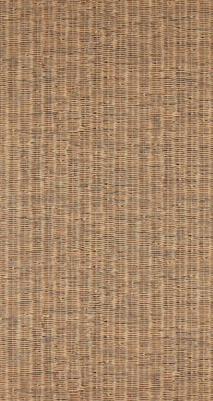 Rustic Contemporary Raw Classic Brown Wicker Wallpaper R4294