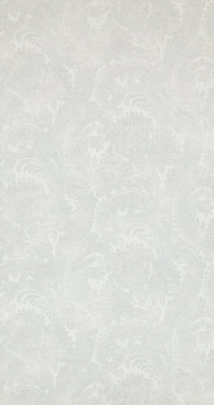 Antiquated Wash Blue Grey Paisley Wallpaper R4341