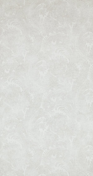 Antiquated Wash Pale Grey Paisley Wallpaper R4342