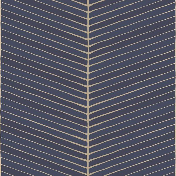 Retro Geometric Fishbone Wallpaper R4997