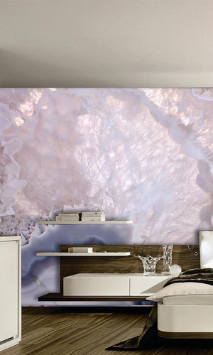 Pink & Grey Pastel Marble Mural Wallpaper M9312. Digital wallpaper.