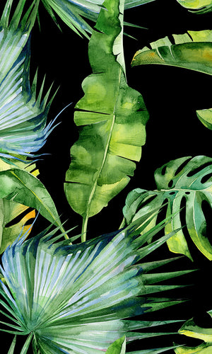 Dramatic Watercolour Jungle Mural Wallpaper M9437