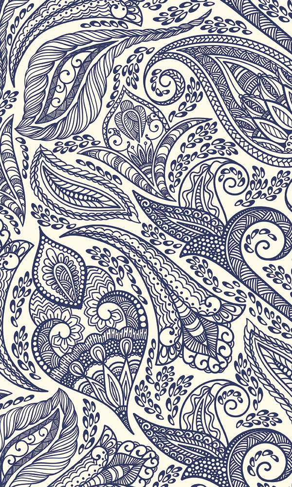 Whimsical Ornamental Paisley M9457