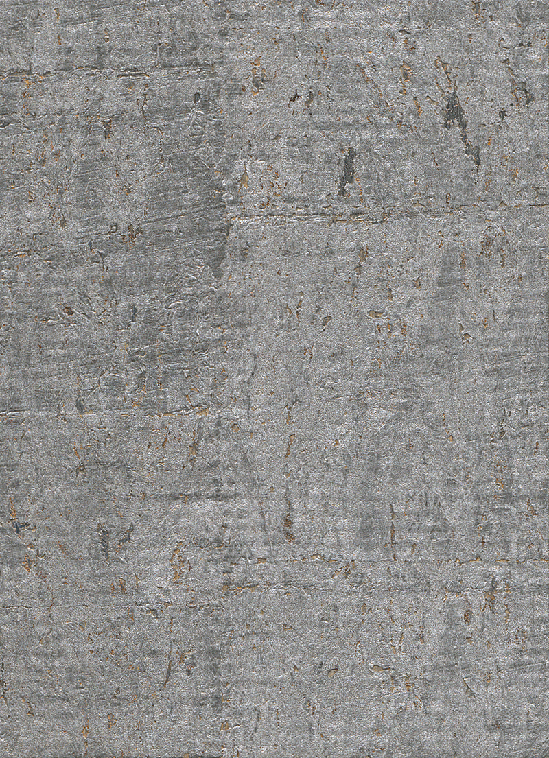 Elder Cork Metallic Silver Wallpaper R2821