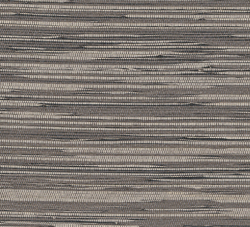 Woven Highlighter Brown and Beige Grasscloth Wallpaper R2857