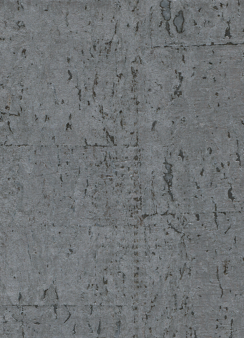 Elder Cork Metallic Grey Wallpaper R2822