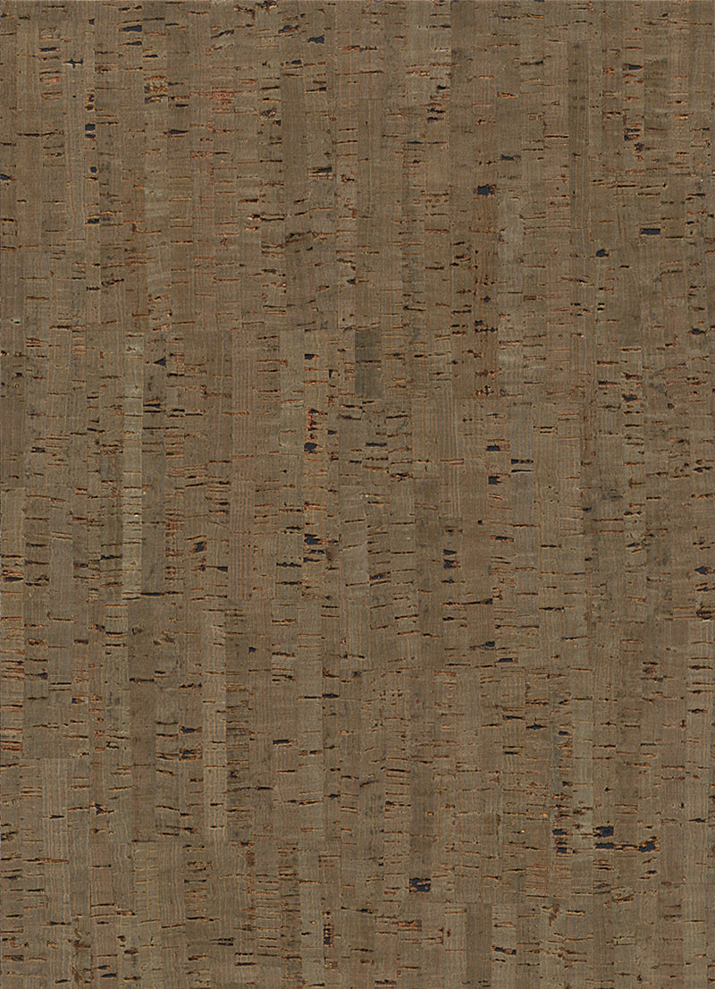 Minamalist Cork Metallic Taupe and Brown Wallpaper R2820