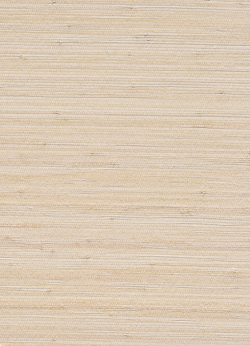 Woven Highlighter White and Beige Grasscloth Wallpaper R2858