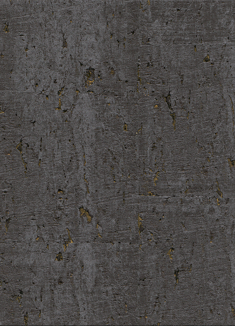 Elder Cork Metallic Black and Gold Wallpaper R2828