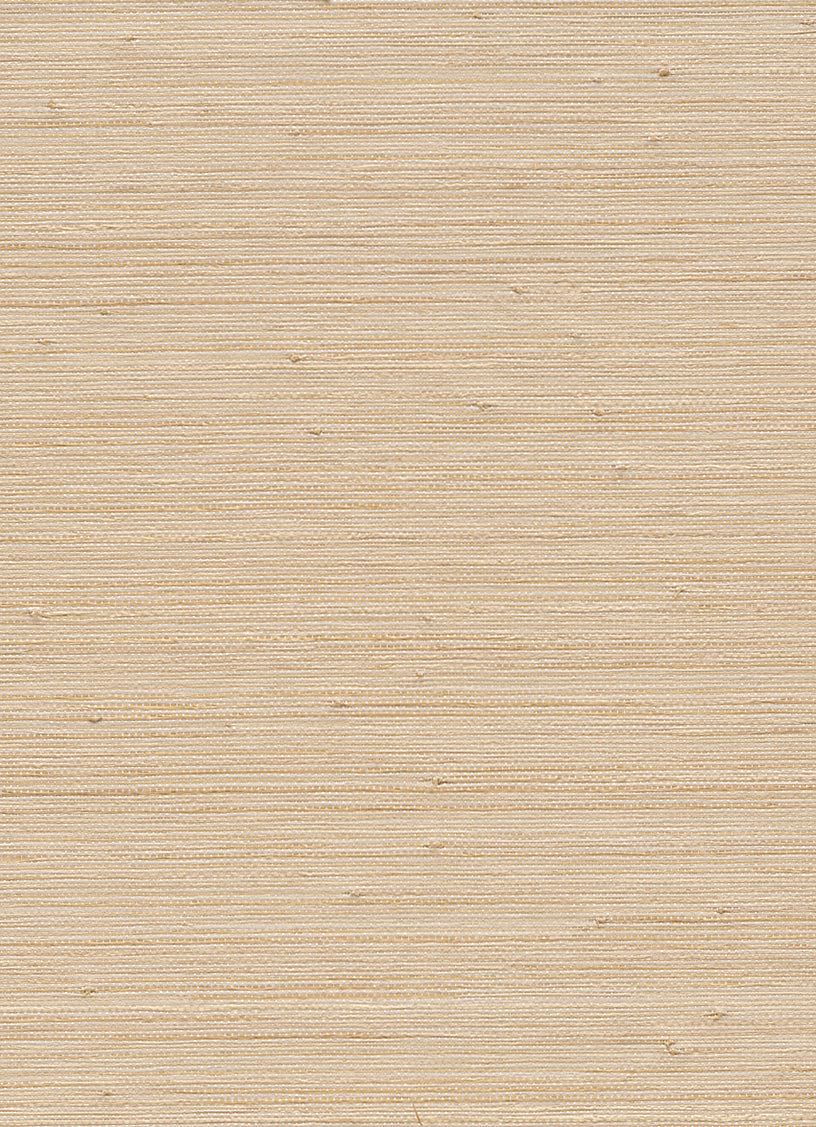 Woven Horizon Beige and Yellow Grasscloth Wallpaper R2869