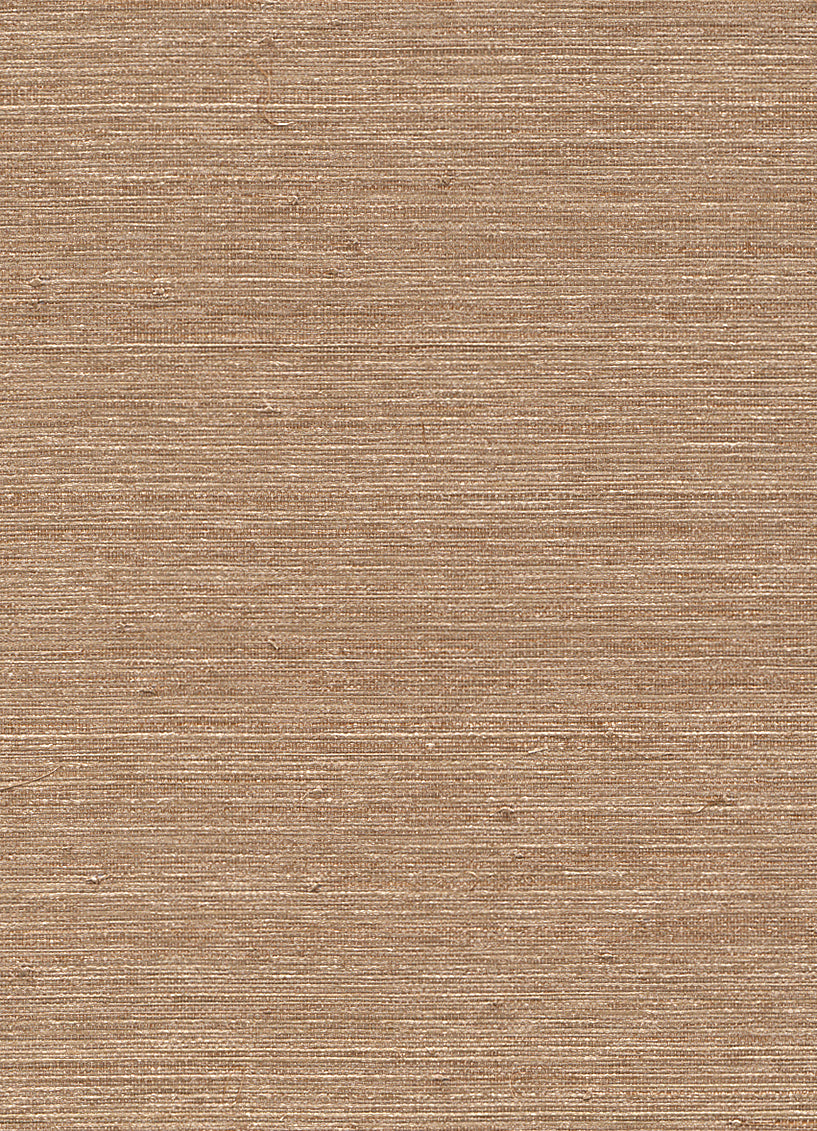 Metallic Ingot Brown Grasscloth Wallpaper R2872