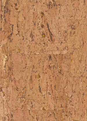 Elder Cork Metallic Brown and Beige Wallpaper R2830