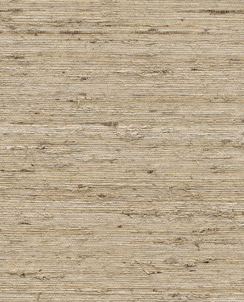 Into Nature Beige and Brown Grasscloth Wallpaper R2876