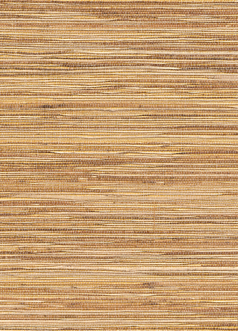 Yellow Brown Grasscloth Wallpaper R2874 | Elite Home Interior
