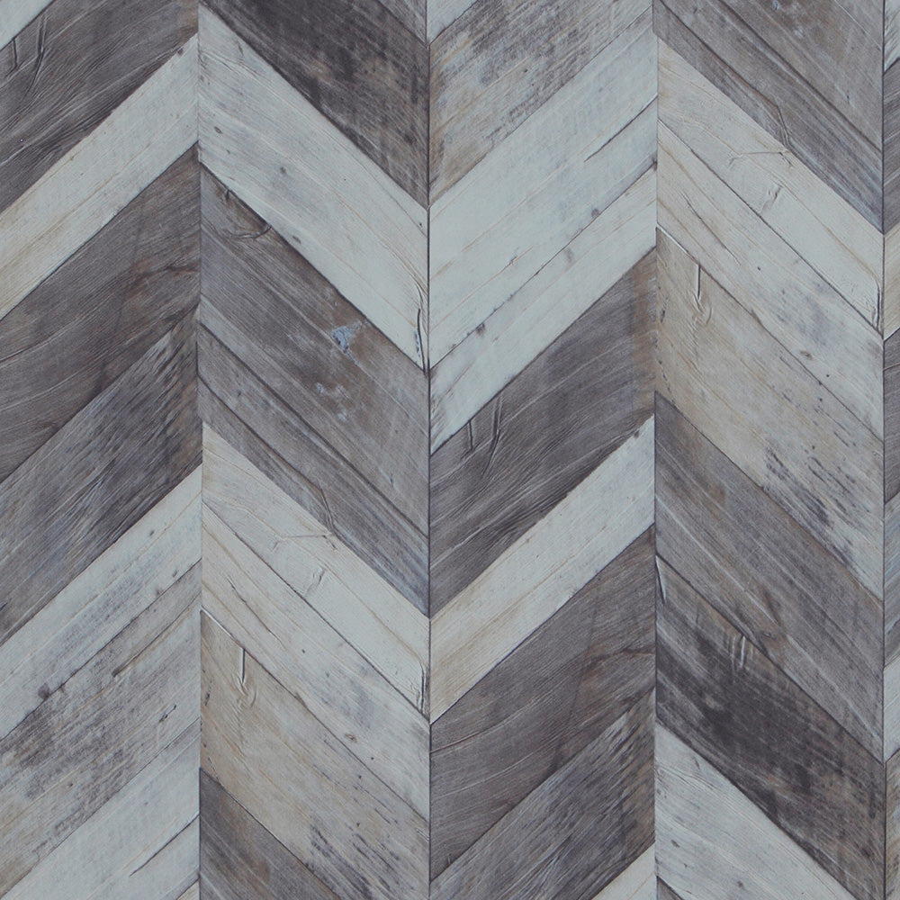 faux wood wallpaper, Dark Grey & Light Blue Faux Wood Wallpaper R4665 | Home Wall Covering