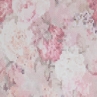 Pink Pixellated Floral Wallpaper R4658 | Luxury Bedroom Wall Ideas