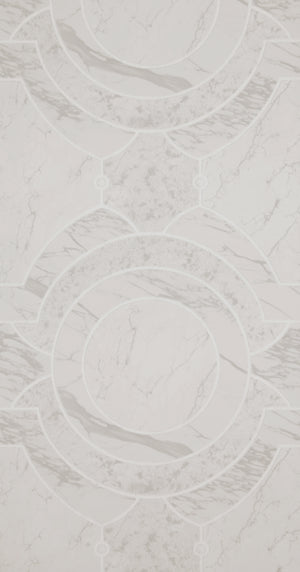 Grey Geometric Curving Marble Wallpaper R5336. Geometric wallpaper. Marble wallpaper.
