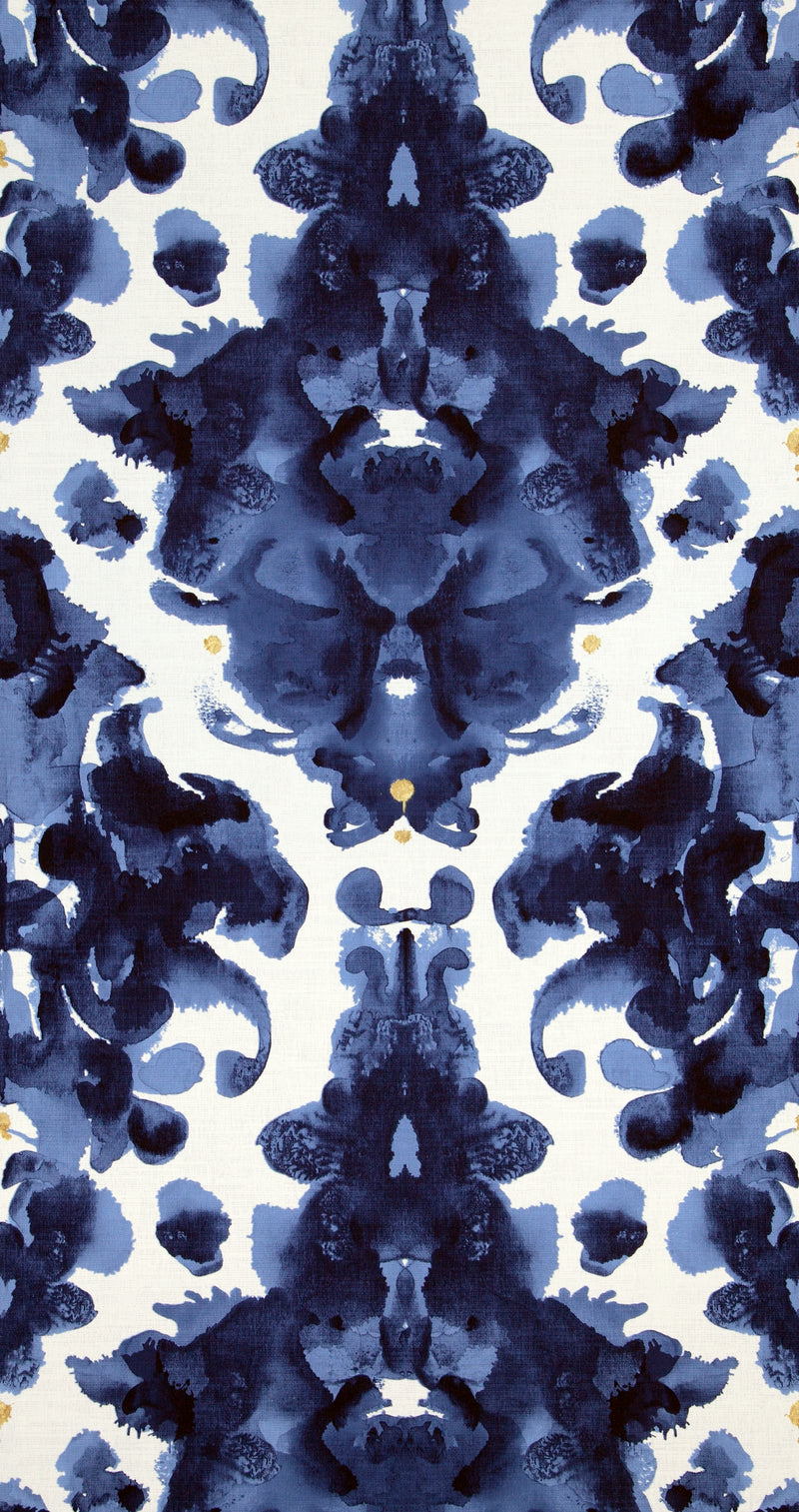 Blue Damask Abstract Wallpaper R5339 | Vintage Home Wallcovering