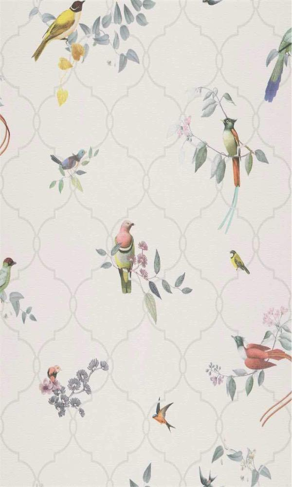 Multi-Color Bride Haiku Traditional Wallpaper R5546
