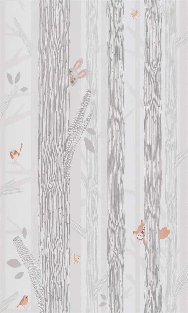 Grey Birch Trees Tropical Wallpaper R5441