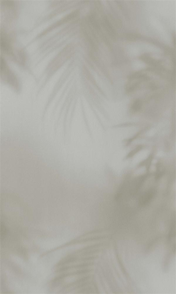 Warm Grey Faded Tropical Leaves R5708