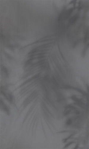 Dark Grey Faded Tropical Leaves R5709
