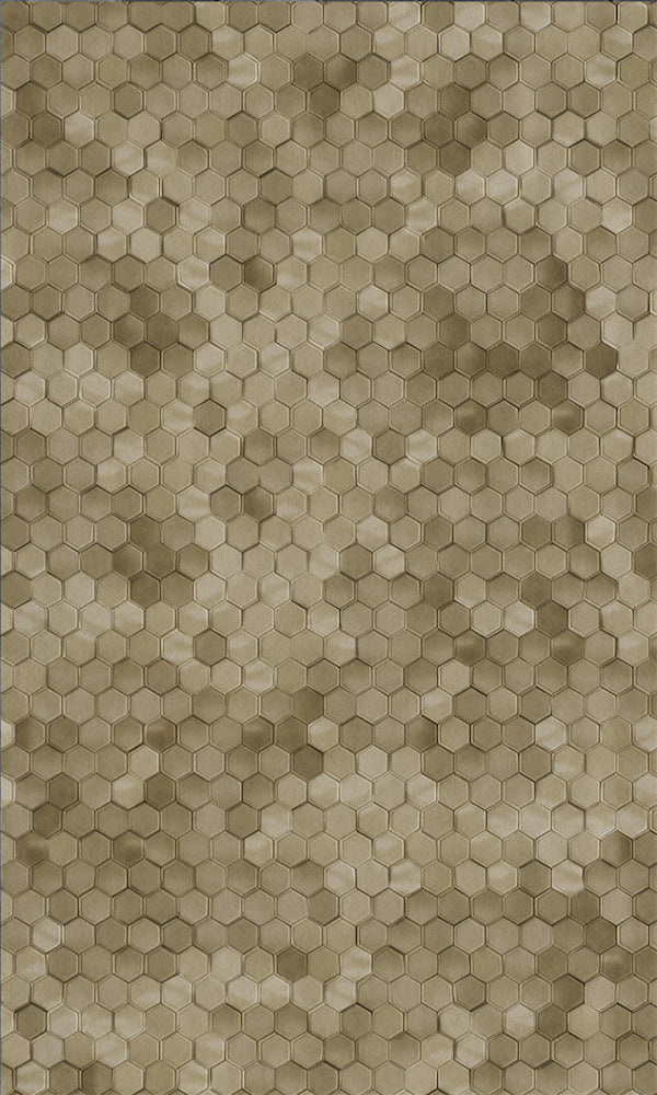 Brown Shimmering Hexagons R5682