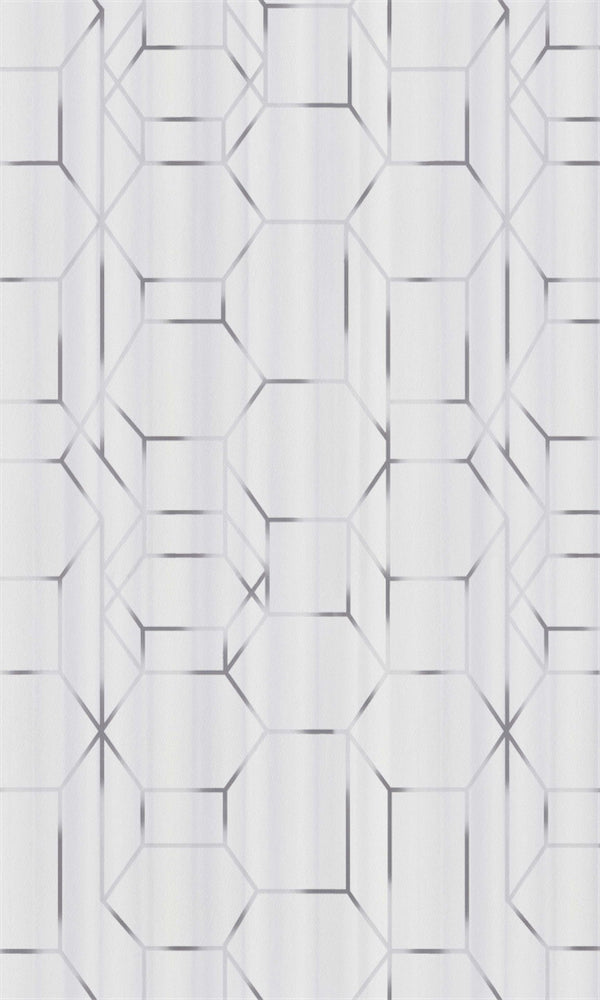 White & Grey Modern Dimensional Chain Link R5660