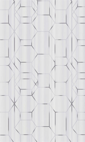 White & Grey Geometric Chain Wallpaper R5660 | Modern Home Wallcovering