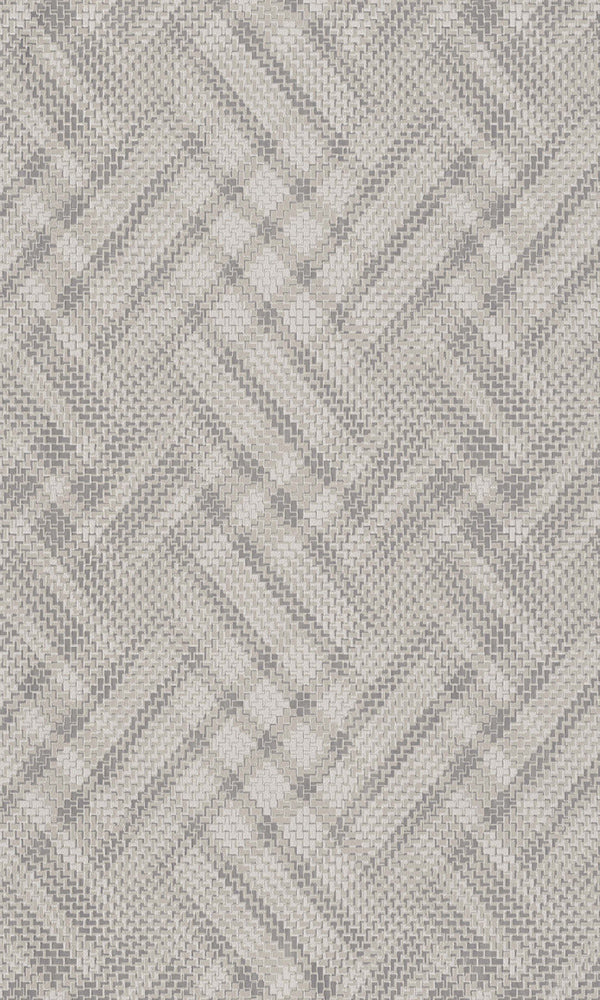 Beige Zigzag Geometric Wallpaper R5803