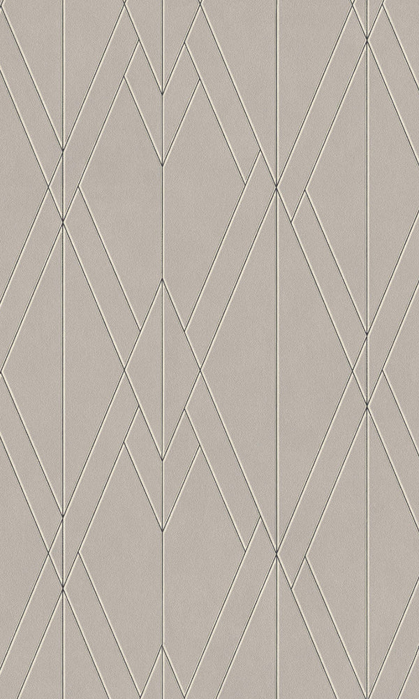 Tan Sharp Geometric Wallpaper R5781