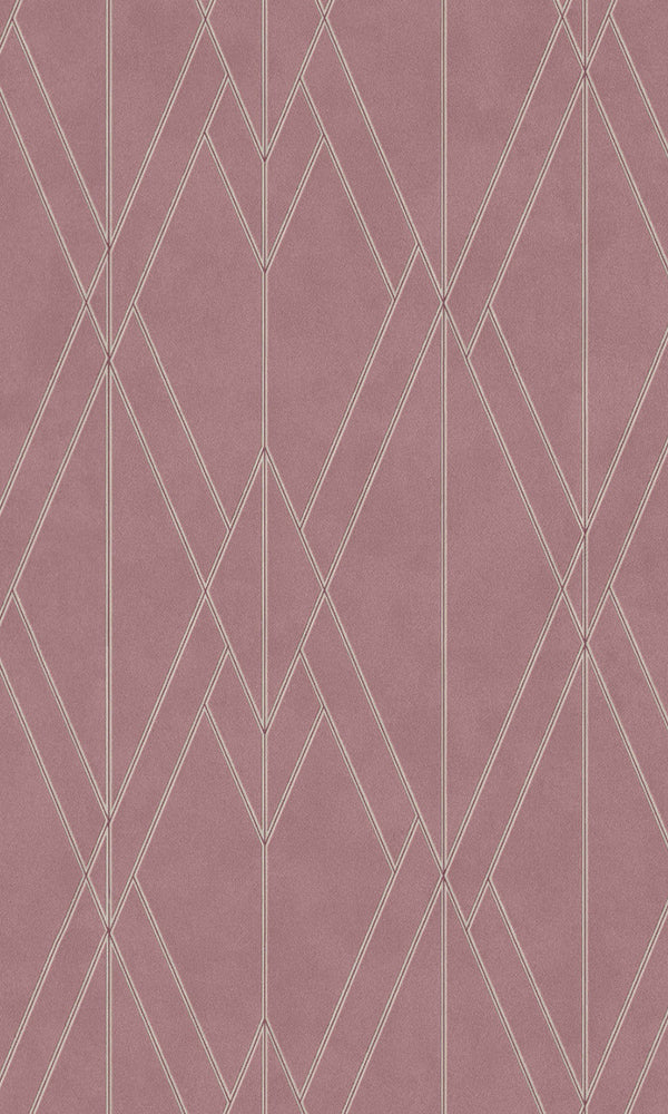 Rose Sharp Geometric Lines Wallpaper R5782 | Modern & Elegant Wall