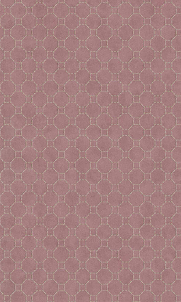 Rose Dashed Geometric Wallpaper R5790 | Modern Home Wall Covering