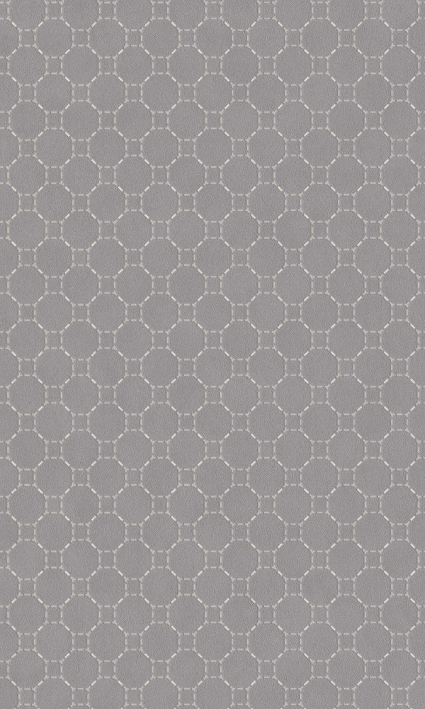 Grey Dashed Metallic Wallpaper R5791 | Modern Geometric Home Interior