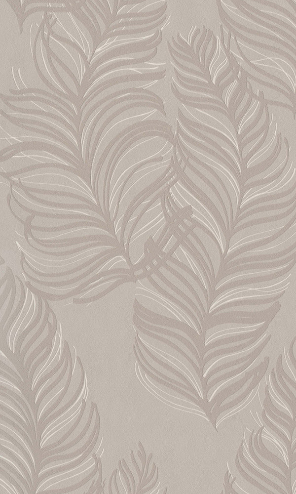 Taupe Semiplume Feathers Wallpaper R5797