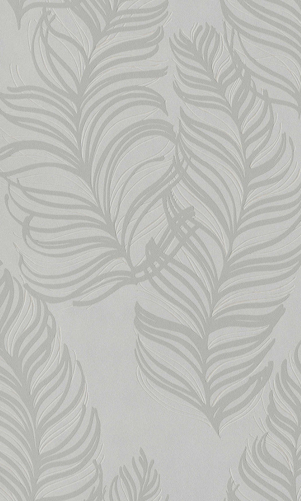 Mint Semiplume Feather Wallpaper R5798 | Botanical Home Interior