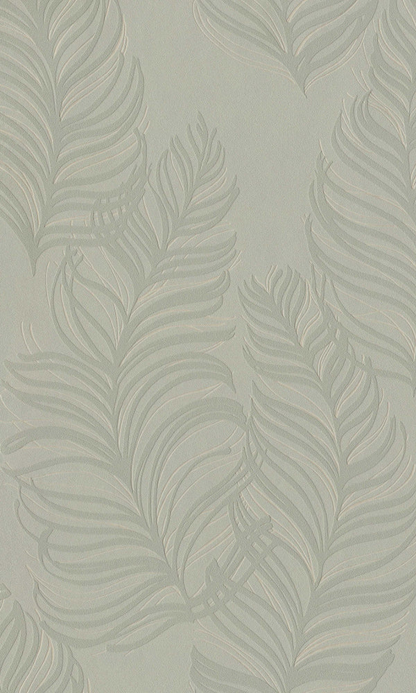 Ash Grey Feathers Wallpaper R5800
