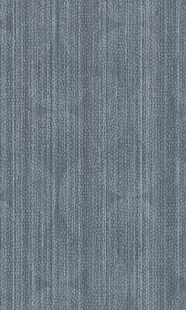 Blue Dotted Interlocking Oval Wallpaper R5811