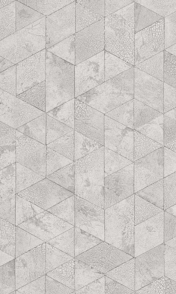 White Cracked Raw Geometrics R5743